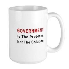 Government is the problem Large Mug