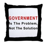 Government is the problem Throw Pillow