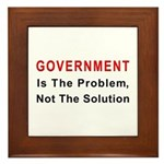 Government is the problem Framed Tile