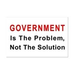 Government is the problem Mini Poster Print