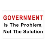 Government is the problem Postcards (Package of 8)