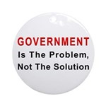 Government is the problem Ornament (Round)