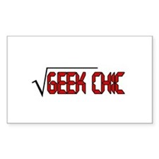 Geek Chic Rectangle Decal