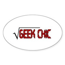 Geek Chic Oval Decal