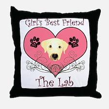 Lab Throw Pillow (pink)