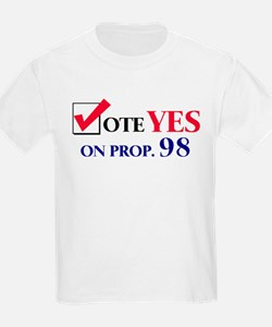Vote YES on Prop 98 Kids T-Shirt