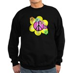 Peace Blossoms /pink Sweatshirt (dark)
