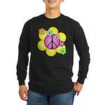 Peace Blossoms /pink Long Sleeve Dark T-Shirt