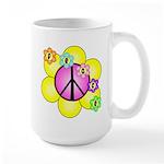 Peace Blossoms /pink Large Mug