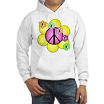 Peace Blossoms /pink Hooded Sweatshirt