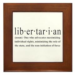Libertarian Definition Framed Tile
