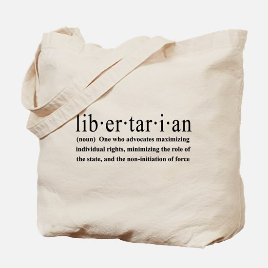 Libertarian Definition Tote Bag