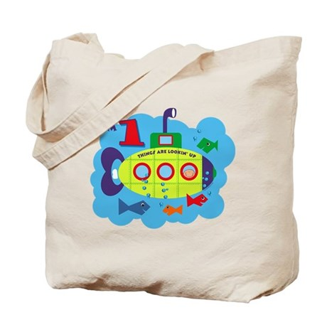 Submarine 1st Birthday Tote Bag