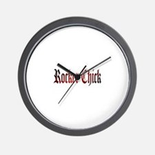 Rocker Chick Wall Clock