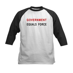 Government Equals Force Kids Baseball Jersey