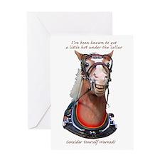 Hot Collar Belgian Draft Horse Greeting Card