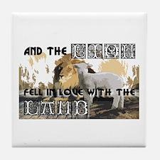 Twilight Movie Lion Lamb Tile Coaster
