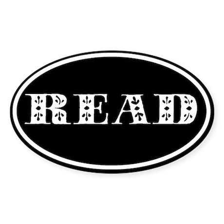 Read Oval Sticker