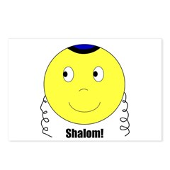 Jewish Rabbi Smiley Face Postcards (Package of 8)