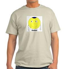 Jewish Rabbi Smiley Face Ash Grey T-Shirt