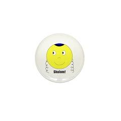 Jewish Rabbi Smiley Face Mini Button (10 pack)