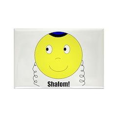 Jewish Rabbi Smiley Face Rectangle Magnet (100 pac