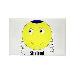 Jewish Rabbi Smiley Face Rectangle Magnet