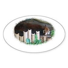 red panda Oval Decal