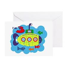 Submarine 3rd Birthday Greeting Card
