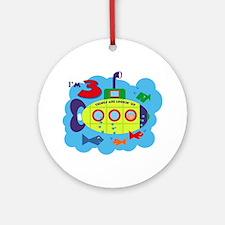 Submarine 3rd Birthday Ornament (Round)