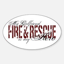 Girlfriend My Hero - Fire & Rescue Oval Decal