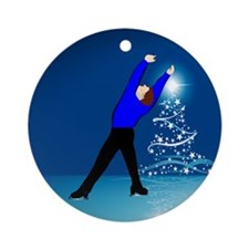 Holiday Skater Ornament (Round)