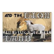 Twilight Movie Lion Lamb Rectangle Decal