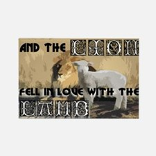 Twilight Movie Lion Lamb Rectangle Magnet