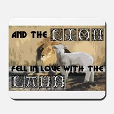 Twilight Movie Lion Lamb Mousepad