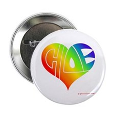 "Chloe (Rainbow Heart) 2.25"" Button (10 pack)"