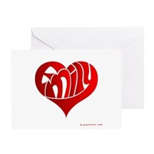 Emily (Red Heart) Greeting Card