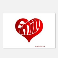 Emily (Red Heart) Postcards (Package of 8)