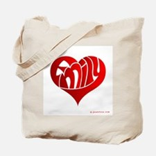 Emily (Red Heart) Tote Bag