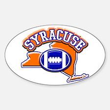 Syracuse Football Oval Sticker (10 pk)