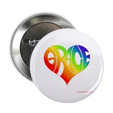 "Grace (Rainbow Heart) 2.25"" Button"