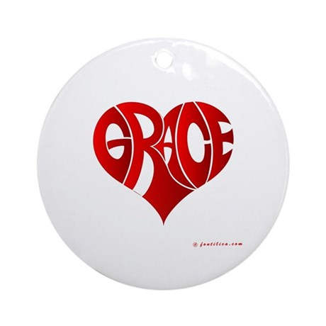 Grace (Red Heart) Ornament (Round)