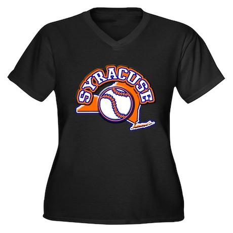 Syracuse Baseball Women's Plus Size V-Neck Dark T-