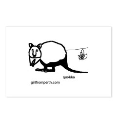 Rottsnest Quokka Postcards (Package of 8)
