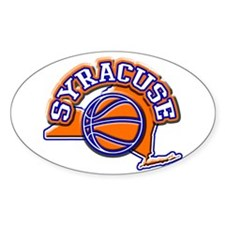 Syracuse Basketball Oval Decal