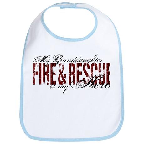 Granddaughter My Hero - Fire & Rescue Bib