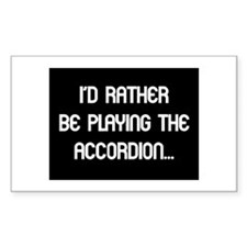 Musicolicious Accordion Gift Rectangle Decal