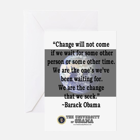 """Change will not come..."" Bar Greeting Card"