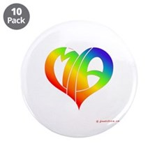 "MIa (Rainbow Heart) 3.5"" Button (10 pack)"