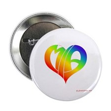 "MIa (Rainbow Heart) 2.25"" Button"